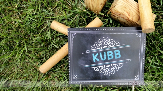 Kubb Yard Game Sign
