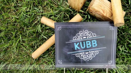 Kubb Yard Game Sign