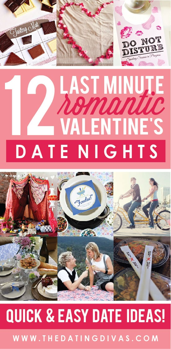 Romantic Last Minute Valentine's Date Nights