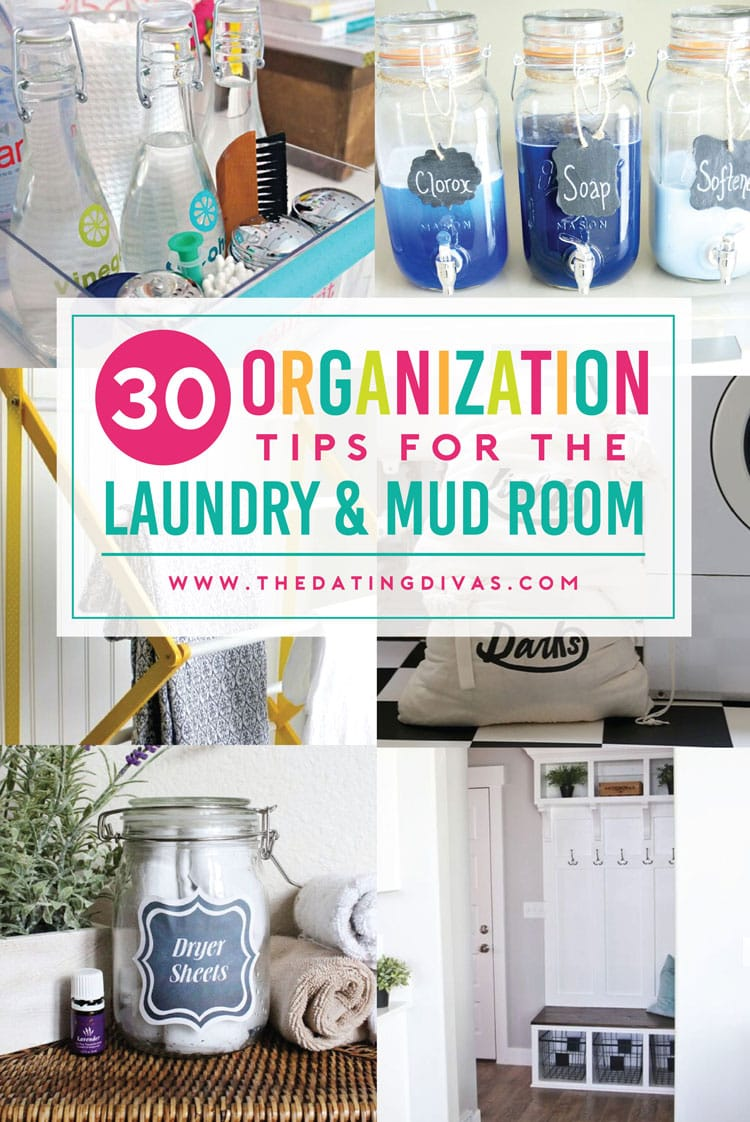 Organize your laundry and mud rooms!
