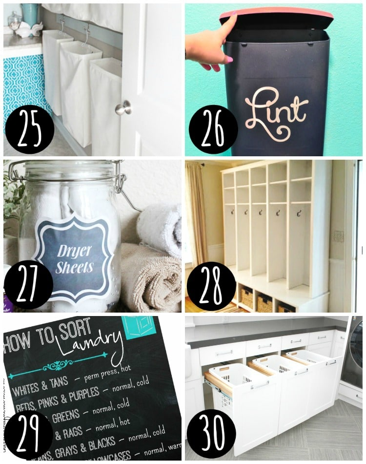 Top laundry and mud room organization ideas!