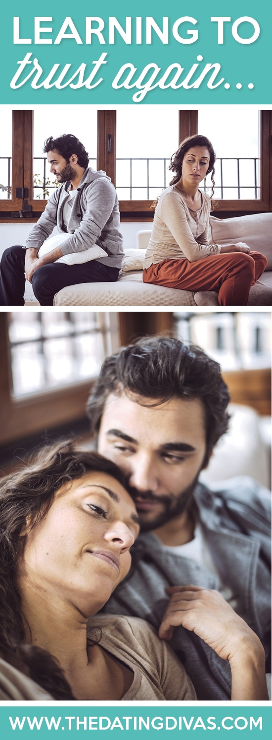 2 pictures of couples, one sitting back to back and one sitting together