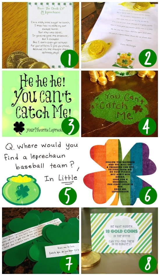 Leprechaun Trap Ideas With Notes and Letters