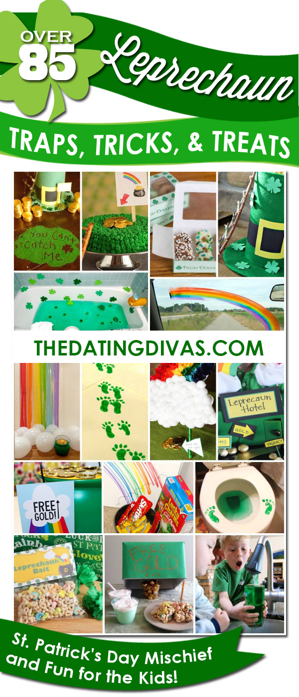 This list of leprechaun traps, treats and tricks will leave the kids giddy and excited for days! So many great ideas for how to trap a leprechaun! #StPatricksDay #LeprechaunTrap #FamilyFun