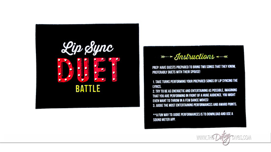 Lip Sync Battle Duet Instructions