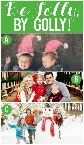 Lots of fun family Christmas cards for inspiration