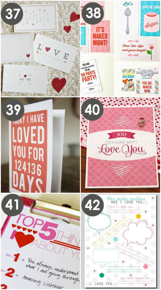 Free Printable Love Card ideas
