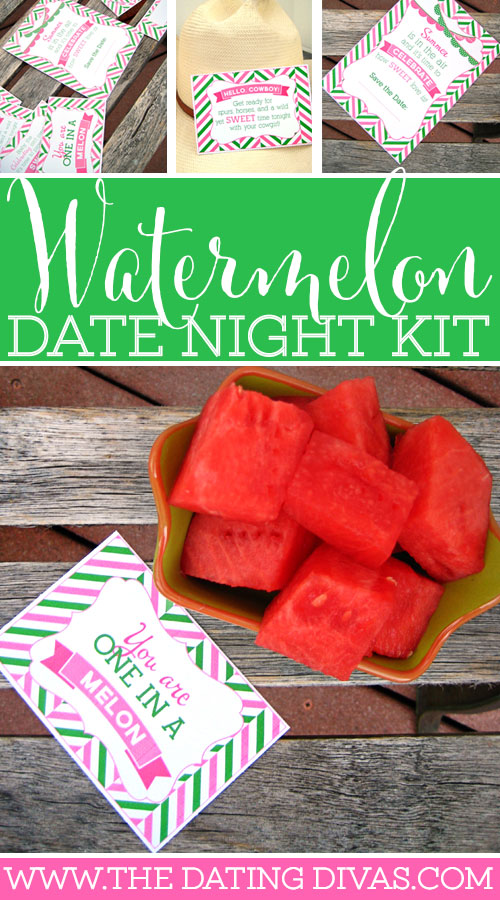 Love Is Sweet Watermelon Date Night Printable Bundle