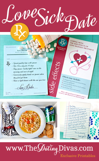 Love Sick Date Printables
