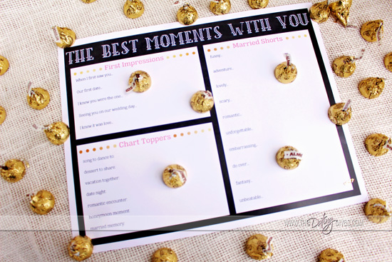 Love Story Placemats - Best Moments