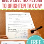 Tax day printable for your love