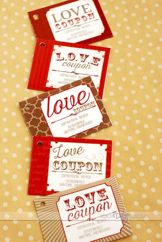 Love Coupon Book Gift Idea Pockets