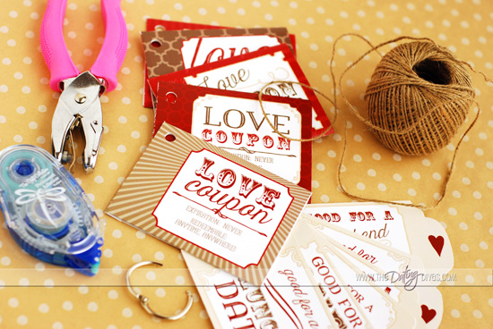Materials for Love Coupon Book