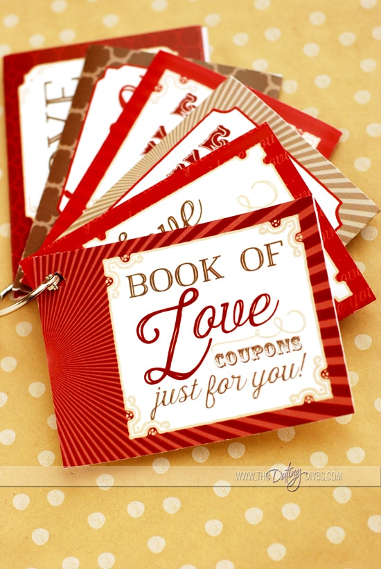 Love Coupon Book Gift Idea Pockets on a Ring