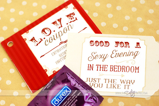 Love Coupon Book Gift Idea Sexy Pocket Inserts