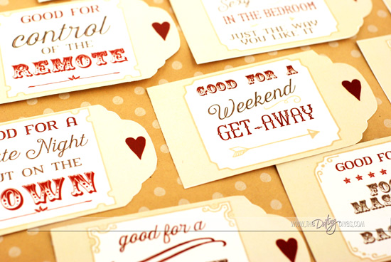 Specific Love Coupon Book Ideas