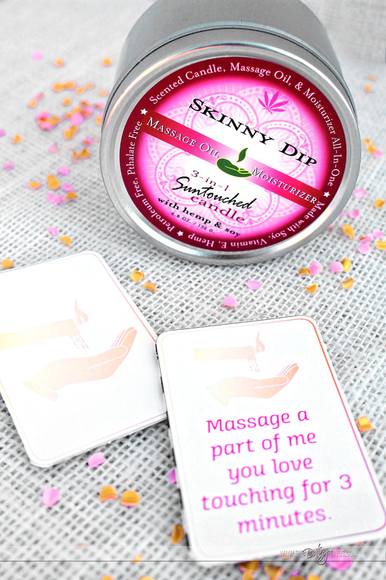 Lover's Day Massage Candle Matching Cards