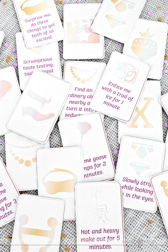 Lovers Day Sexy Matching Card Game