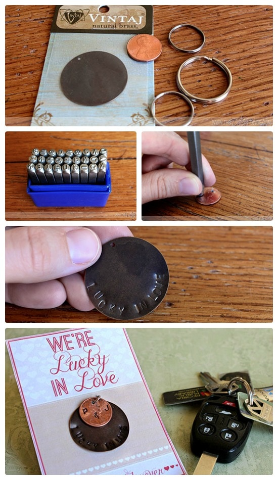 DIY Lucky in Love Keychain Printable Diva Central Exclusive
