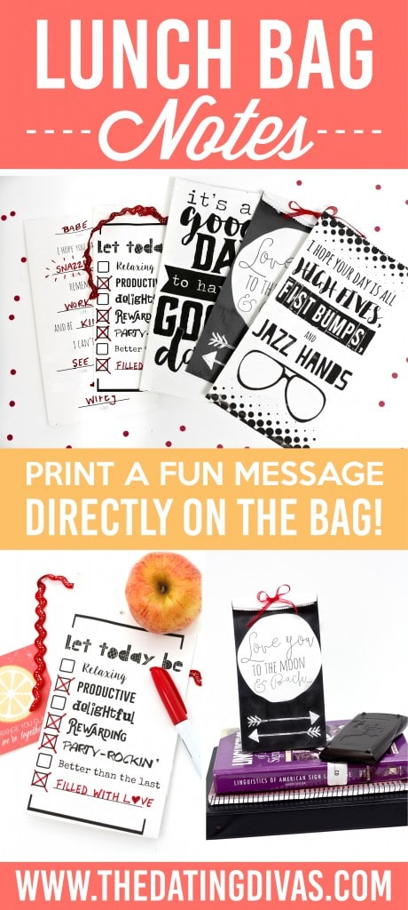 Printable lunch bag notes.