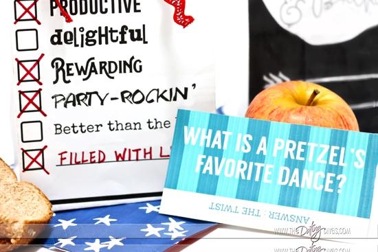 Add a printale joke in your kid's lunch bag.
