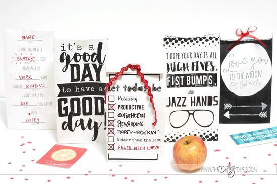 Darling printable lunch bag notes.