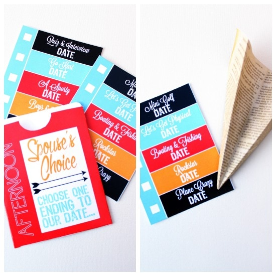 Lunch Time Date Ideas and Printables