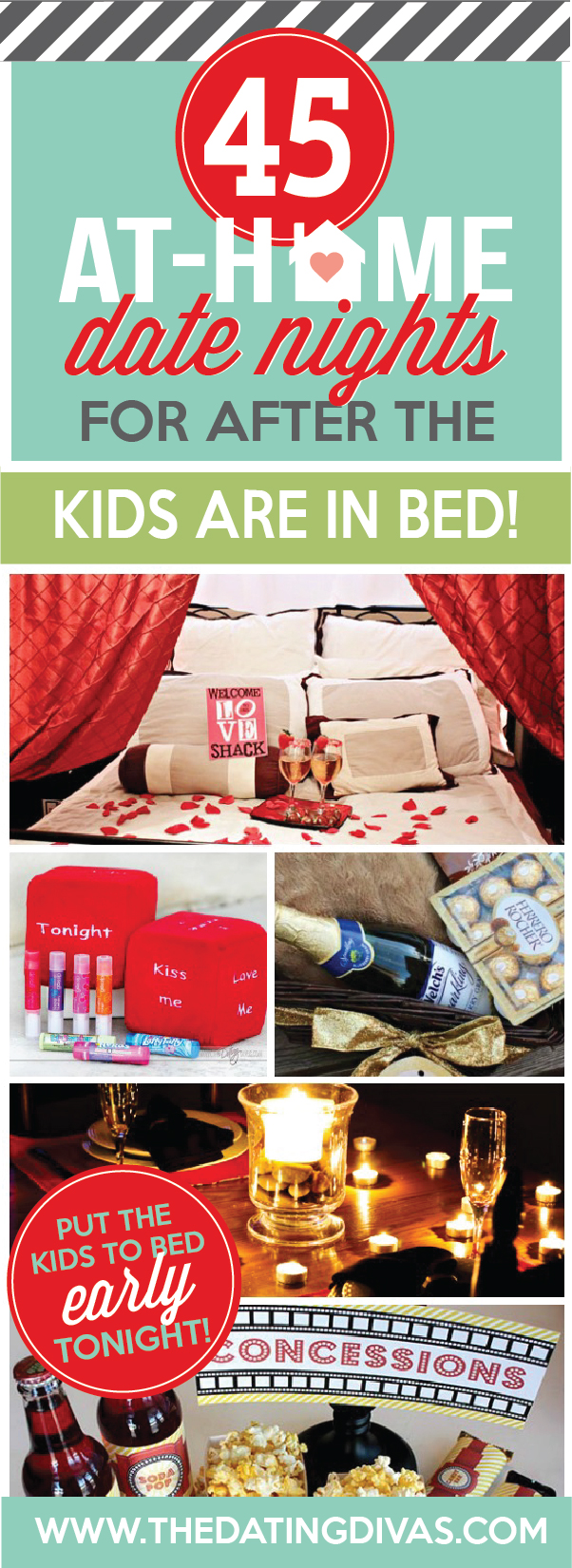 At Home Date Night Ideas For After The Kids Are In Bed