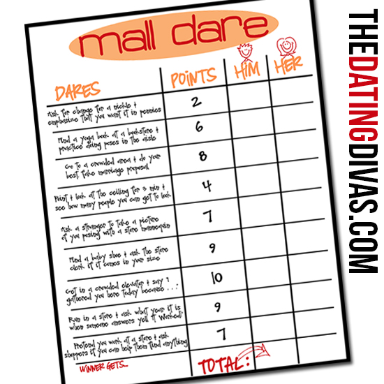 mall photo scavenger hunt party ideas - Mall Dare The Dating Divas