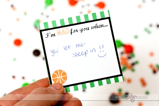 March Madness Love Note