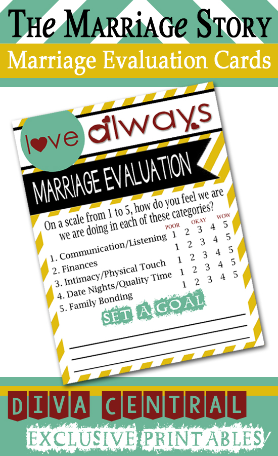Marriage Evaluation Cards Printables