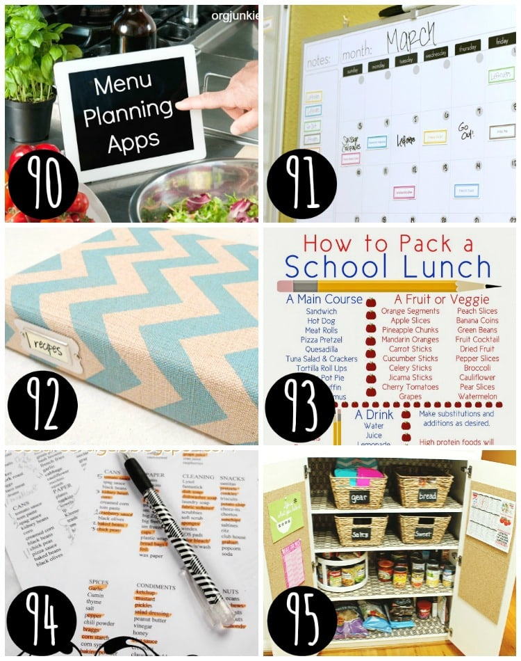 Top tips for meal planning!