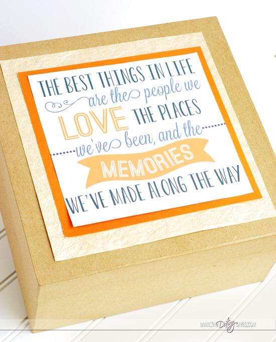 Memory Gift Box Printable