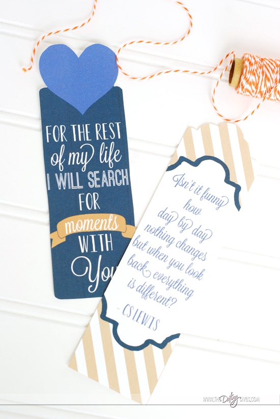 Printable Bookmark with Quotes