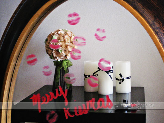 Merry kiss mas love message for Mirror kisses