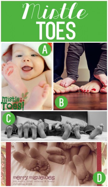 Mistle Toes Family Christmas Card
