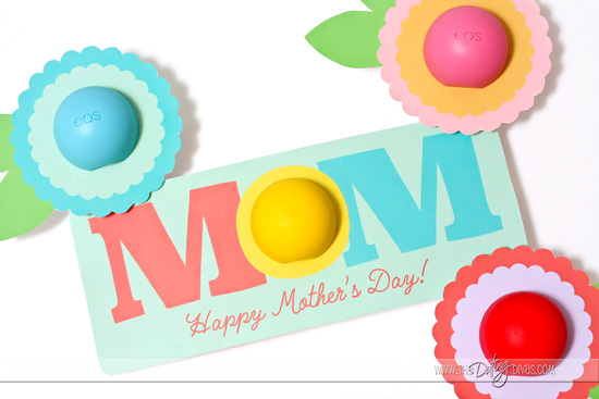 Mother's Day Printables with EOS Chapsticks