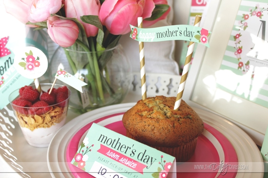 Food Toppers for Mother's Day Breakfast