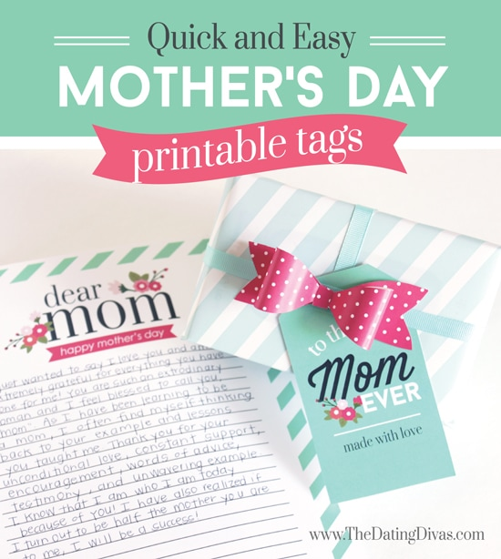 Beautiful Breakfast Kit for Mom Printable Tags