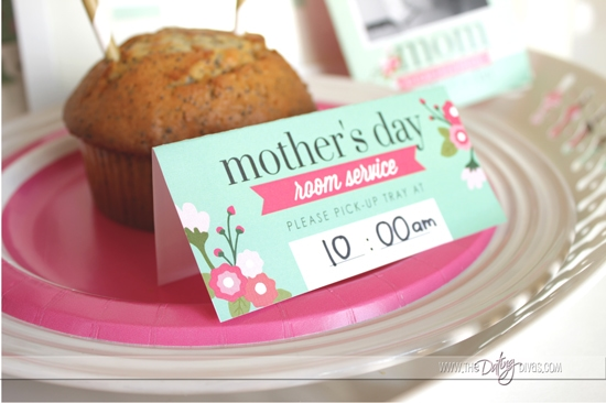 Mother's Day Breakfast Tray Pick-Up Card