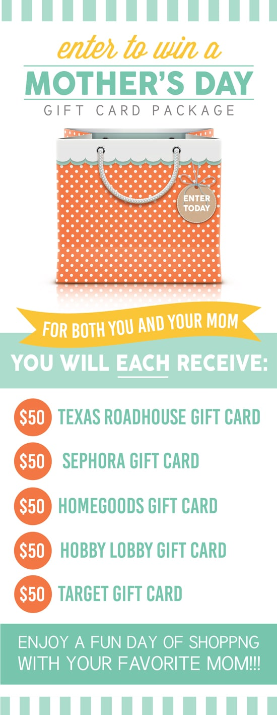 Mother's Day Gift Card Giveaway
