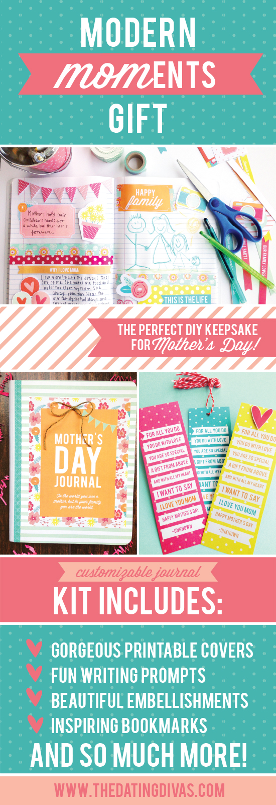 Make a personalized mom journal for Mothers Day - Super Cute!