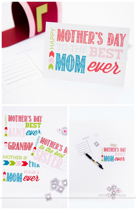 cute mother's day postcard