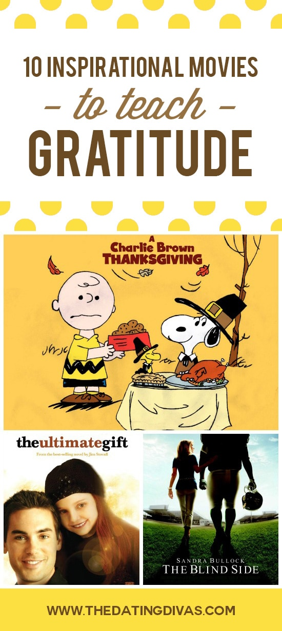 10 Movies to teach kids gratitude.