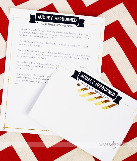 Murder Mystery Date Character Task Cards