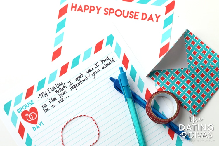 National Spouse Day Personal Love Note