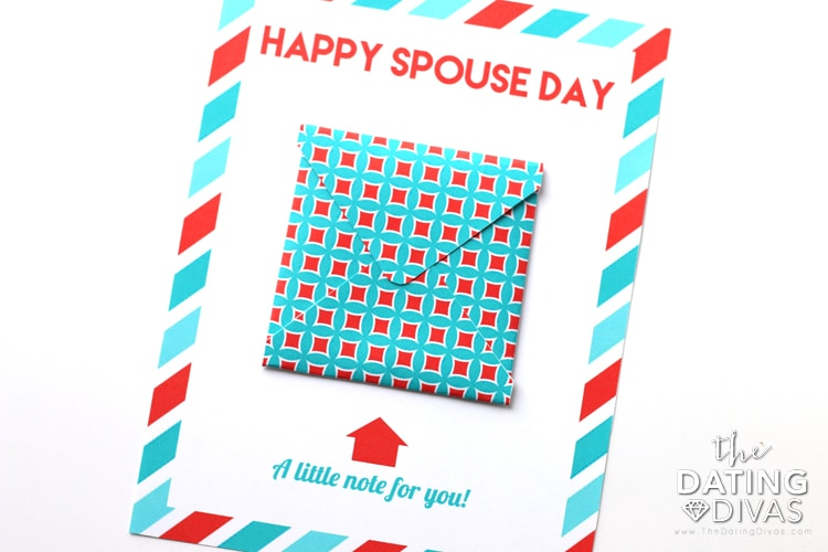 National Spouse Day Love Note Card