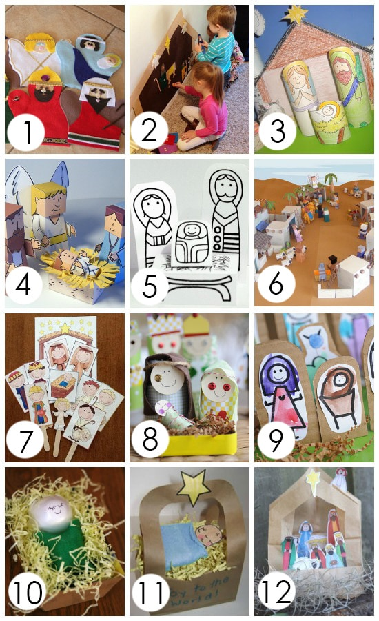 Nativity Arts and Crafts for Kids- most of them are free printables too!