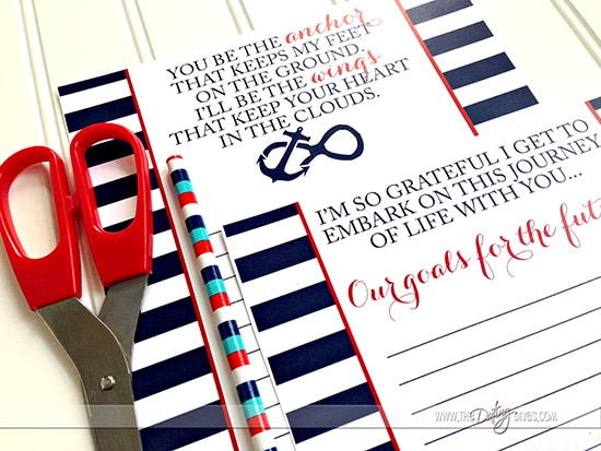 Free nautical date night printables