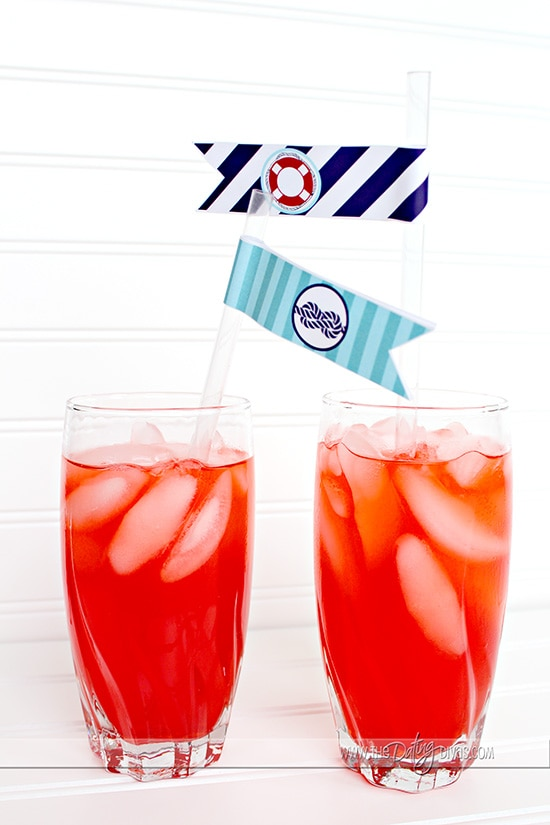 Nautical Themed Party Drinks